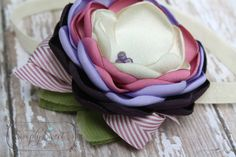 Kensli Wren  Plum and Mauve headband or hairclip by joellegfritz