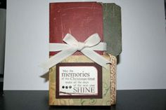 Splitcoaststampers - Tutorials -- uses a file folder and patterned paper with a few embelishments