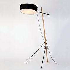 Excel Floor Lamp In Black | 120v | Memoky.com Floor Lamps, Shades Of Black, Mid-century Modern, Mid Century, Concept, Elegant, Simple, Inspiration, Design