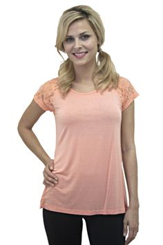 Raglan Sleeve Lace Top!!  $42.00  http://www.yogiclothing.com/collections/tops-1