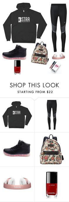 """""""barry allen girls"""" by yukyukxx ❤ liked on Polyvore featuring NIKE, Loungefly, Chanel and Kylie Cosmetics"""