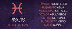 PISCIS: CARACTERÍSTICAS – ASTROLOGEANDO.COM #Piscis #Características #Zodiaco
