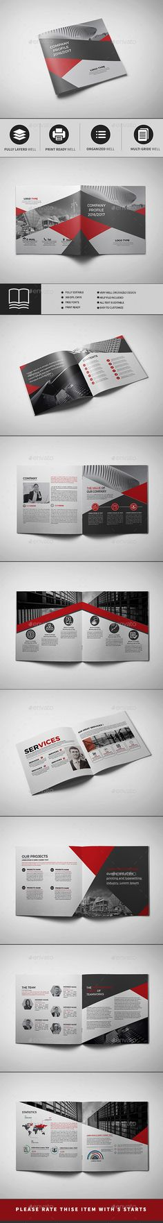 Corporate Business Square Brochure 16 Pages Template InDesign INDD