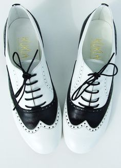 "Black&White Mafia Oxford Shoes by KUKLAfashiondesign on Etsy, $125.00 Great Fall shoe! Ala ""Elaine Benis-Seinfeld"" ☺"