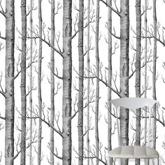 Cole and Son (Wallpapers) Ltd Cole & Son Tapeten Woods: New Contemporary Two Birch Tree Wallpaper, Wood Wallpaper, Pattern Wallpaper, Kitchen Wallpaper, Fornasetti Wallpaper, Wallpaper Wallpapers, Cole Son, New Classic Furniture, Modern Furniture