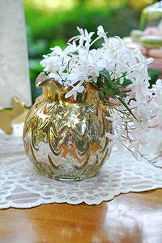 Gold Carraway Vase for smaller arrangements