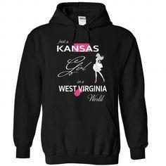 I Love KANSAS GIRL IN WEST VIRGINIA WORLD T-Shirt