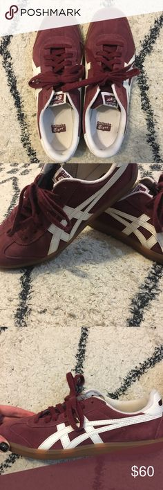 onitsuka tiger sneakers onitsuka tiger sneakers  Burgundy Perfect condition Onitsuka Tiger Shoes Sneakers