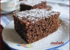 High Protein Desserts, Chocolate Protein Bars, Protein Cake, Protein Foods, Protein Recipes, Chocolate Cake, Cake Bars, Sweet Cakes, Dessert Recipes
