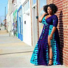 2019 Native Outfits For Plus-Size Women's at Diyanu Looks Plus Size, Curvy Plus Size, Plus Size Women, African Print Fashion, Fashion Prints, African Prints, African Attire, African Dress, Curvy Girl Fashion