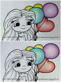 Copic Marker España: Coloreando Globos. Tutorial.
