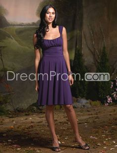 Discount A-Line Square Neckline Knee-Length Bridesmaid Dresses  In any colour