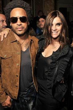 Lenny Kravitz and Carine Roitfeld in Givenchy  [Photo by Stéphane Feugère]