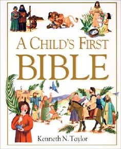 A Child's First Bible  good read aloud for little, little ones, and great first reader for new readers.... short story, and questions to follow! Ken Taylor is classic!