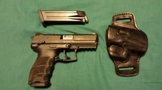 HK P30S 40S&W with Wild Bill holster.