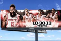 A new NBA Season is among us which means our favorite teams are soon to take over across the nation! Check out this billboard promoting the Nba Season, H Town, Outdoor Signs, Houston Rockets, Billboard, Communication, Pride, Texas, Basketball