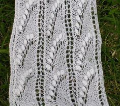 Free Pattern: Lily of the Valley Estonian Lace Scarf by Helene Wallin