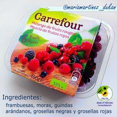Mezcla de frutos rojos congelados, en Carrefour. Paquete de 450 gramos por 3.33 euros. Aptos para la nueva dieta Dukan desde el miércoles #Dukan