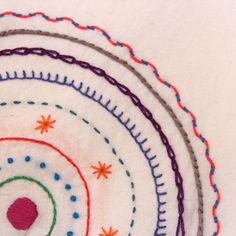 mandala close-up | A simple embroidery pattern of concentric… | Flickr