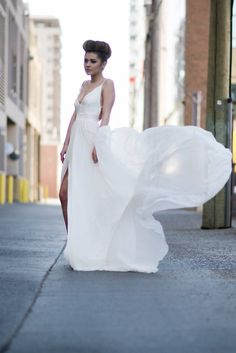 Urban Romantic Bridal Style - Urban Victoria Inspiration Shoot via Calgary Bride
