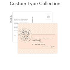 Custom Save the Date Postcards - Posh Postmark by Wedding Paper Divas