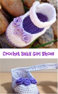 Crochet Baby Girl Shoes Crochet baby shoes always looks very cute and lovely. Today you have a chance to make adorable baby girl booties and. Crochet Baby Boots, Baby Girl Crochet, Crochet Shoes, Crochet Slippers, Booties Crochet, Crochet Baby Blanket Beginner, Baby Girl Shoes, Girls Shoes, Baby Pullover