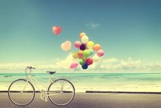 Valentine Backdrop - romantic beach, wedding, love, valentine's day, bicycle and balloon - Printed Fabric Photography Background Maybe for the wall behind her? Valentine Backdrop, Milky Way Stars, Endocannabinoid System, Removable Wall Murals, Romantic Beach, Happy Today, Happy Life, Heart Balloons, Pastel Balloons