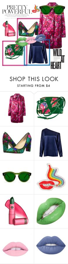 """""""Pink coat fever"""" by miriam-modiga ❤ liked on Polyvore featuring Marc Jacobs, Kate Spade, Ivanka Trump, TIBI, Olympia Le-Tan, Lipstick Queen and Lime Crime"""