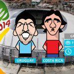 Brasil 2014: Día 3 Sorpresa en el mundial: Costa Rica le dio vuelta a Uruguay por 3 a 1 por el sexto partido del mundial