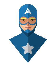 Flat Design Superheroes from Jeffrey Rau