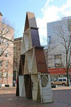 :: n e a t  O ::  Gabriela Salazar, For Closure, sculpture, found doors,   << via design squish blog>>