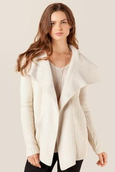 Portia Shearling Sweater Wrap