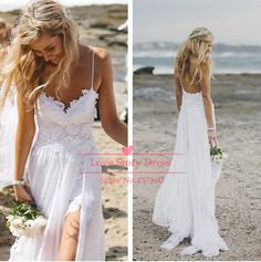 Find More Wedding Dresses Information about Sexy Spaghetti Straps Lace Beach Wedding Dresses Gowns 2014 Stunning Dreamy Sweetheart White Backless Chiffon Bride Dress,High Quality dress importer,China dress fancy Suppliers, Cheap dress patterns prom dresses from Suzhou LoveStoryDress Co. , Ltd on Aliexpress.com