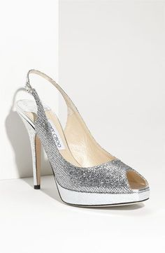 No kidding - this is the shoe the sales associate at Nordstrom's tried to talk me into for my wedding. Price tag: $695