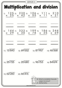 math worksheet : worksheets numbers and number worksheets on pinterest : Math Multiplication And Division Worksheets
