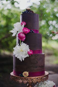 3 Tier Chocolate Wedding Cake