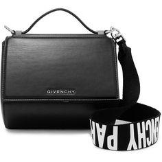 Givenchy Pandora Box mini leather shoulder bag ($2,060) via Polyvore featuring bags, handbags, shoulder bags, black, givenchy handbags, genuine leather purse, leather handbags, givenchy shoulder bag and leather purses