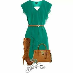 Loce everything about this dress, color, shape,