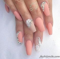 Nail Designs With Rhinestones And Glitter Lines - Wholesale 50 Designs Flat Glitter Ab Color Nail Art Rhinestones Gems pertaining to Nail Designs With Rhinestones And Glitter 3d Nails, Cute Nails, Pretty Nails, Beautiful Nail Designs, Beautiful Nail Art, Fabulous Nails, Gorgeous Nails, Uñas Color Coral, Nail Art Strass