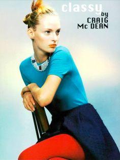 Vogue Italia April 1996, Classy, Ph. Craig Mc Dean, Amy Wesson.