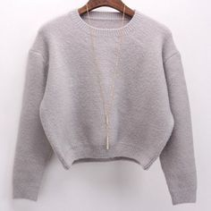 Free shipping 2016 Women's autumn and winter long-sleeved round neck short paragraph wool blend knit sweater women's sweaters