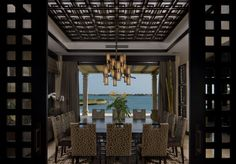 Contemporary Dining Room by ADRIANA HOYOS INTERIORS #contemporary #diningroomfurniture #designerfurniture