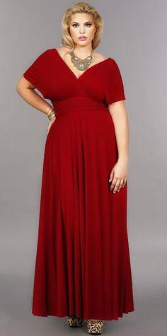 """Marilyn"" Long Convertible Dress - Red - Marilyn Convertible Dress: One Dress, Infinite Possibilities - Monif C"