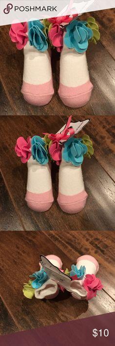 Mudpie NWT pink and white socks Mudpie NWT pink and white socks mudpie Accessories Socks & Tights