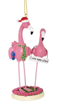 Boy Meets Girl Pink Flamingos Come Here Often Funny Christmas Holiday Ornament Christmas Humor, Christmas Holidays, Christmas Crafts, Christmas Decorations, Christmas Ideas, Flamingo Decor, Pink Flamingos, Naive, Holiday Ornaments