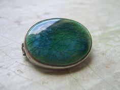 Art Nouveau Silver And Swiss Blue Topaz Brooch C.1900 Antiques Arts & Crafts