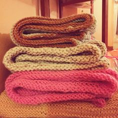 KIY Knit It Yourself My babies are growing up!! #happy #handmade #knit #knitted #knitting #scarf #snakescarf #crafty #handcrafted #KIY #DIY #knitter #wool #stripes #striped #yellow #pink #lightblue & much more to come... #italy #knittedinitaly