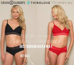 ONE HOUR LEFT Go to Instagram- @SavvySleepers and enter our giveaway to win a SavvySleepers satin pillowcase + @ThirdLove Breathe Easy Bralette set