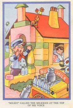 Noddy Has an Adventure by Enid Blyton - 1970s Childhood, Childhood Memories, Book Illustrations, Children's Book Illustration, Enid Blyton Books, Vintage Children's Books, Vintage Art, Little Golden Books, Vintage Cartoon