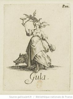 [Les péchés capitaux]. [3], [La gourmandise] : [estampe] / [Jacques Callot] - 1